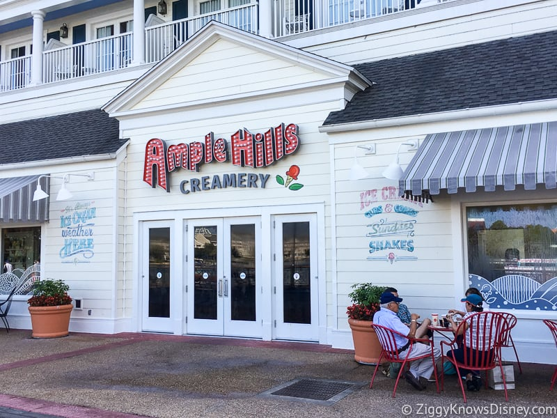 Outside Ample Hills Creamery Disney's Boardwalk