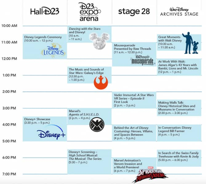 D23 Expo 2019 Schedule Friday