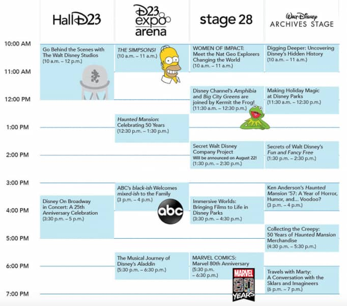 D23 Expo 2019 Schedule Saturday
