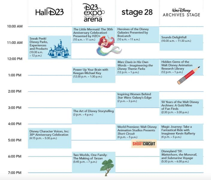 D23 Expo 2019 Schedule Sunday