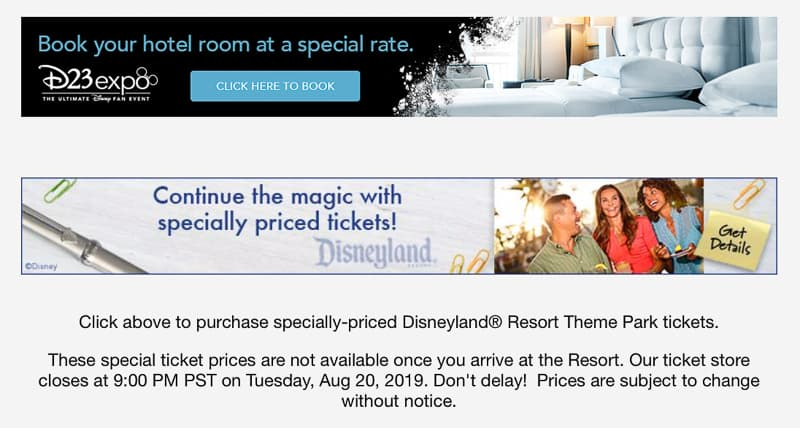 D23 Expo 2019 Disneyland Tickets