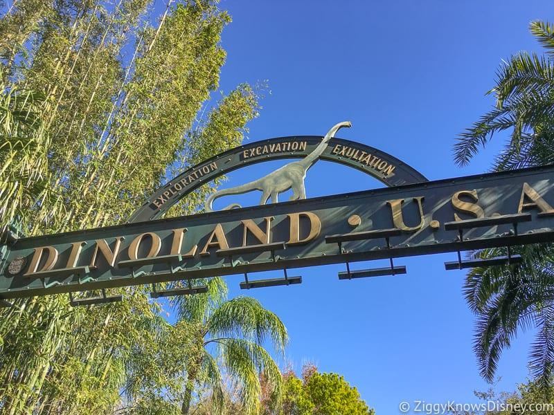 Dinoland entrance sign Animal Kingdom