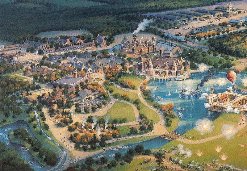 Disney America concept art