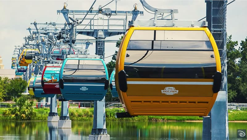 Disney Skyliner over water