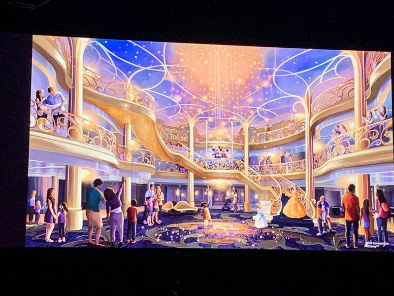 Disney Wish inside concept art