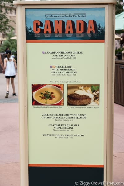 2019 Epcot Food and Wine Festival Menus Canada