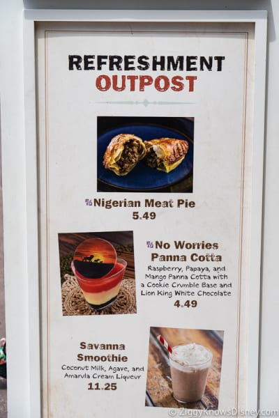 2019 Epcot Food and Wine Festival Menus Refreshment Outpost