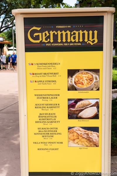 2019 Epcot Food and Wine Festival Menus Germany