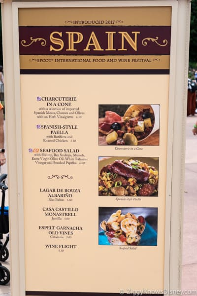 2019 Epcot Food and Wine Festival Menus Spain