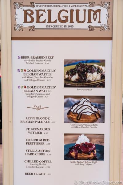2019 Epcot Food and Wine Festival Menus Belgium