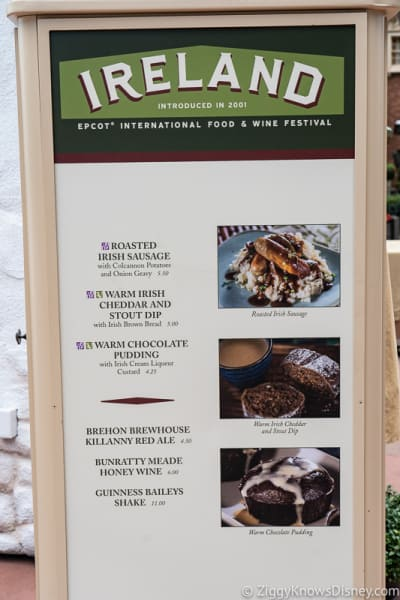 2019 Epcot Food and Wine Festival Menus Ireland