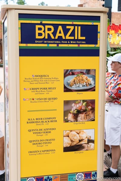2019 Epcot Food and Wine Festival Menus Brazil