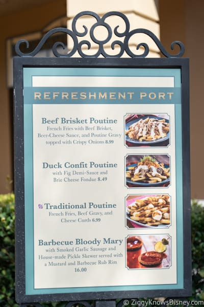 Epcot Food and Wine Menus 2019 Refreshment Port