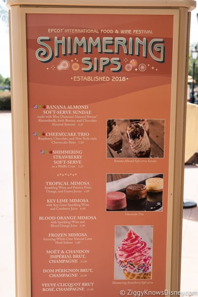 2019 Epcot Food and Wine Festival Menus Shimmering Sips