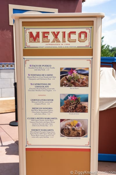 2019 Epcot Food and Wine Festival Menus Mexico