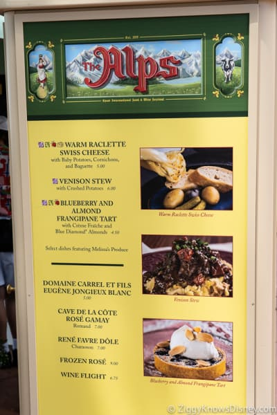 2019 Epcot Food and Wine Festival Menus The Alps