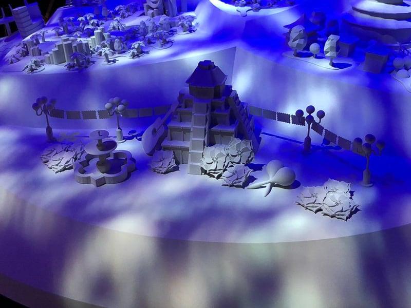 Epcot Journey Into Mexico Pavilion Model D23 Expo
