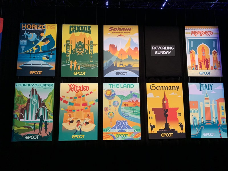 Epcot posters 4 D23 Expo