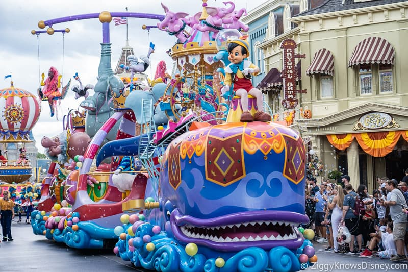 Pinocchio Float in Festival of Fantasy Parade