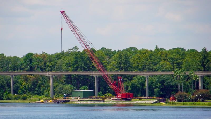 crane for Grand Floridian Magic Kingdom Walkway Update August 2019