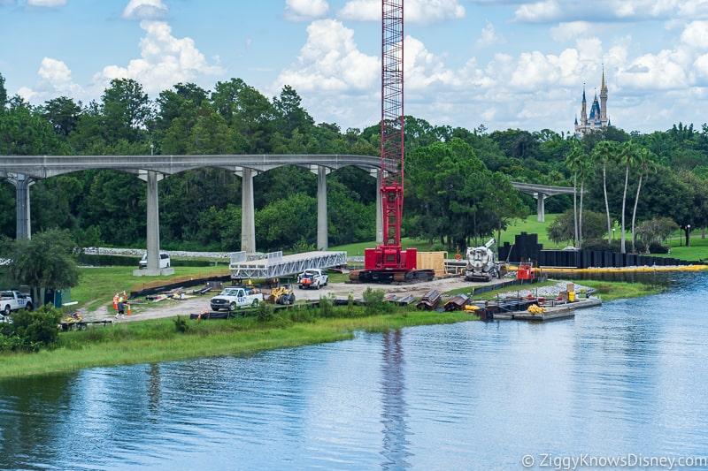 Grand Floridian Walkway update august big crane