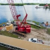 crane doing work for Grand Floridian Walkway update august 2019
