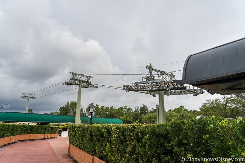 Hurricane Dorian Preparations in Walt Disney World no gondolas Epcot Station