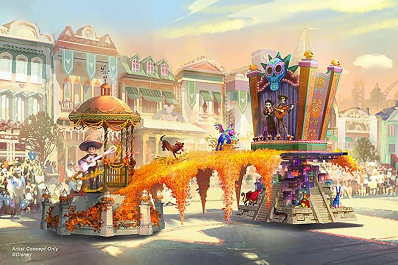 Magic Happens Coco float concept art