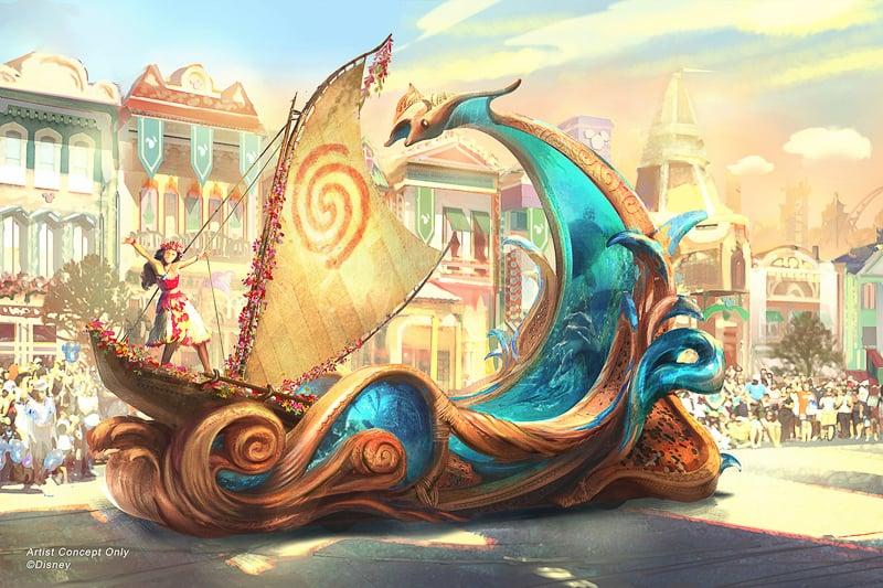 Magic Happens Moana float concept art