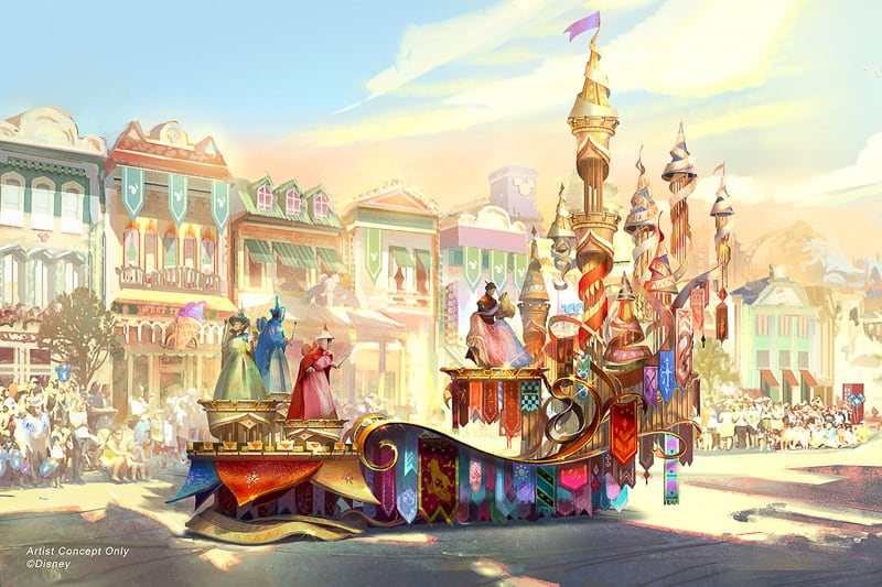 Magic Happens Sleeping Beauty float concept art