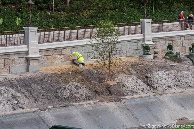 magic kingdom cinderella castle walkway update august 2019 trees