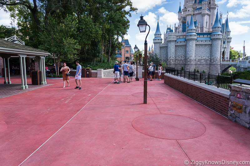 wide pathway at magic kingdom cinderella castle walkway update august 2019