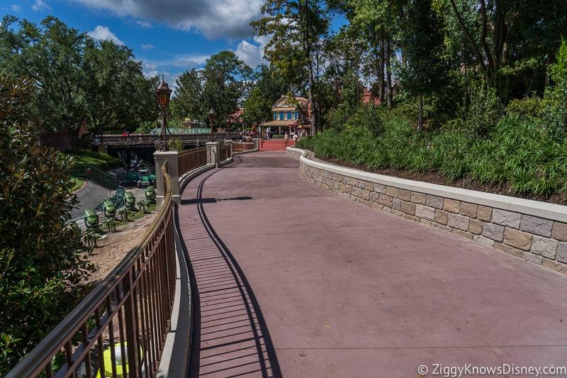 magic kingdom cinderella castle walkway update august 2019 enlarged pathway