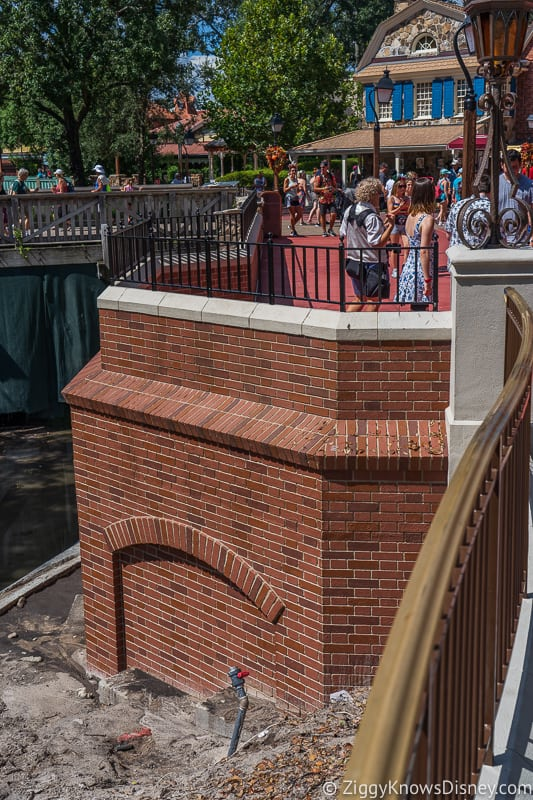 magic kingdom cinderella castle walkway update august 2019 outside of brick wall