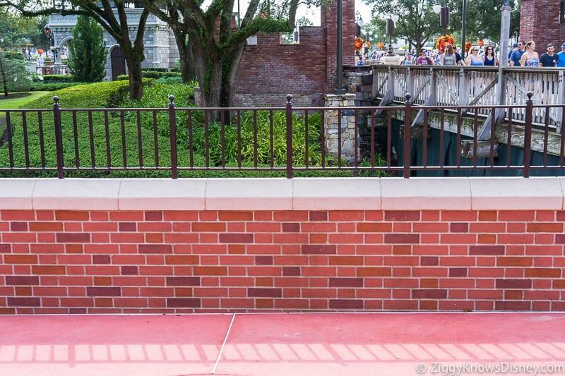 magic kingdom cinderella castle walkway update august 2019 brick wall