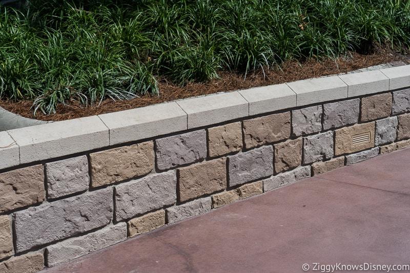 magic kingdom cinderella castle walkway update august 2019 lower wall