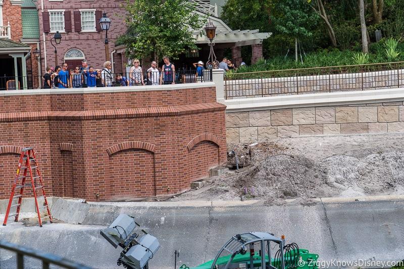 magic kingdom cinderella castle walkway update august 2019 walls