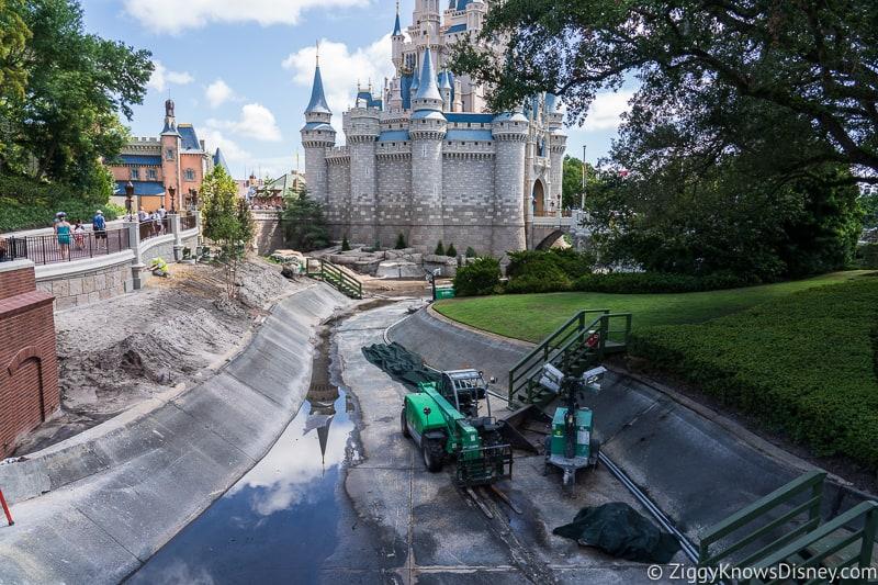 magic kingdom cinderella castle walkway update august 2019 moat