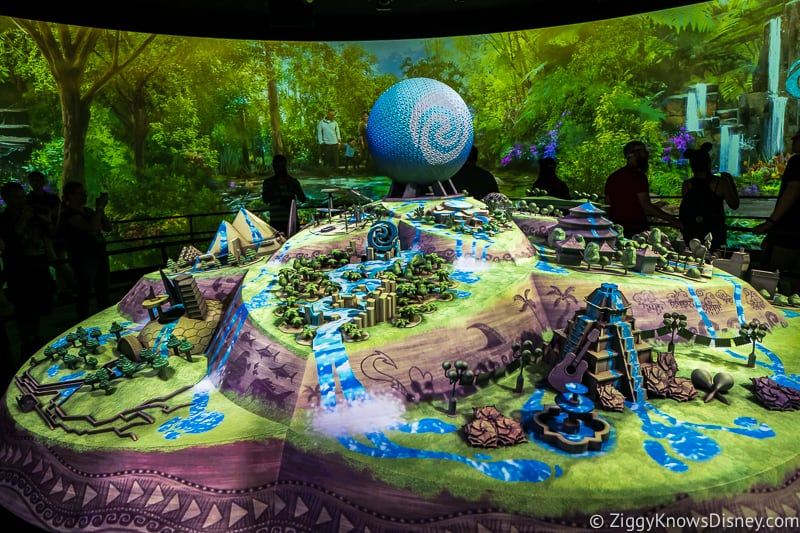 Moana Journey of Water model Epcot Experience