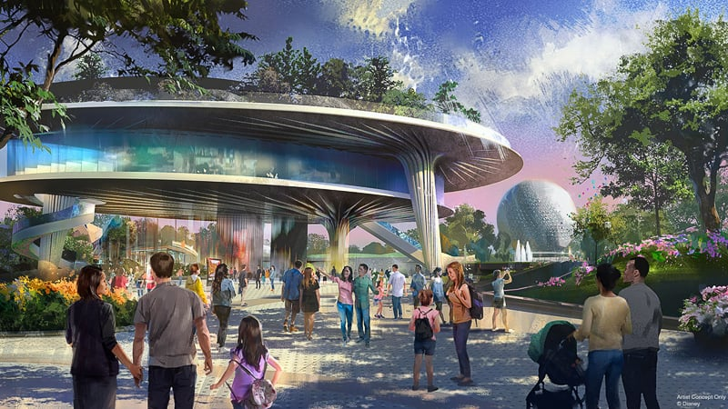 New pavilion Epcot World Celebration concept art