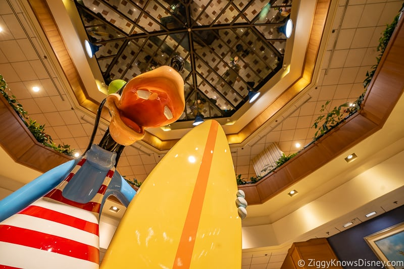 Goofy in Lobby of Paradise Pier Hotel