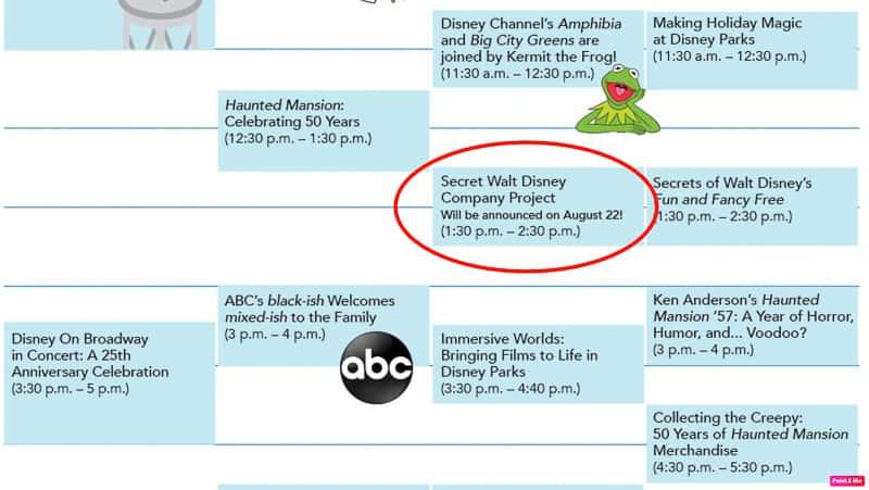 Secret Walt Disney Company Project D23 Expo