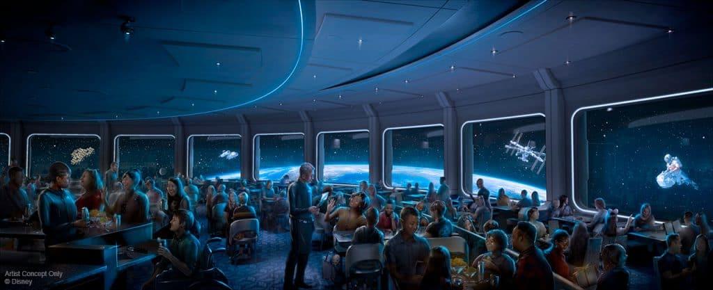 Space 220 restaurant Epcot concept art