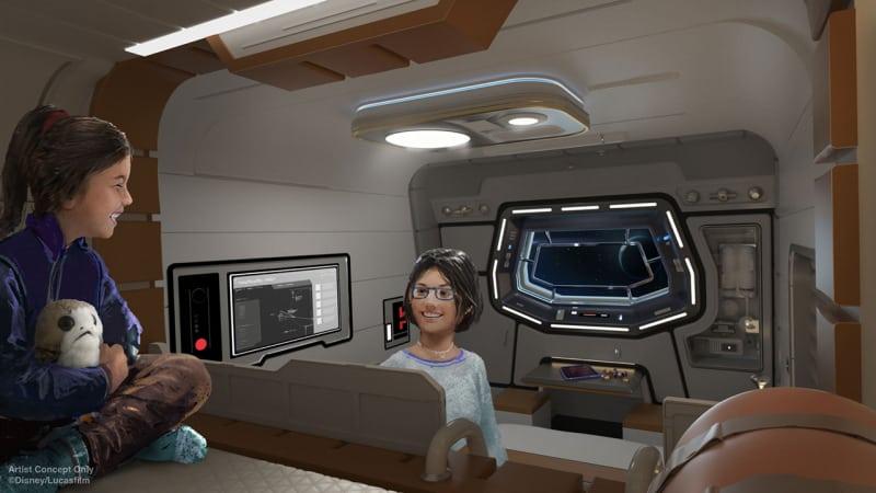 Star Wars Galactic Starcruiser Cabin Concept Art