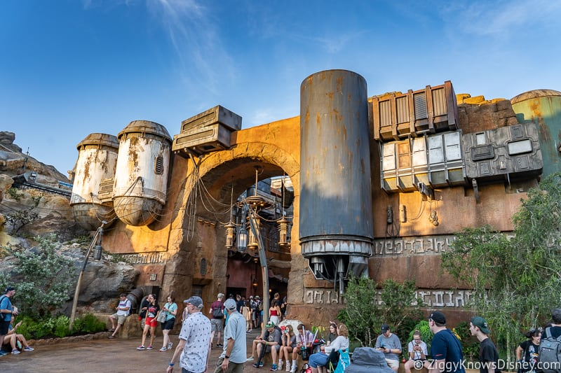 Marketplace in Star Wars Galaxy's Edge at Opening