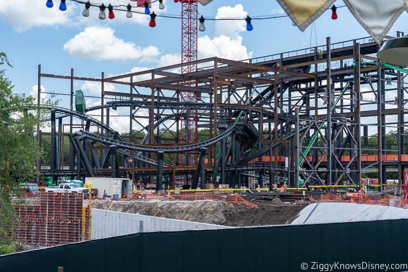 TRON Lightcycles Run roller coaster update august full view
