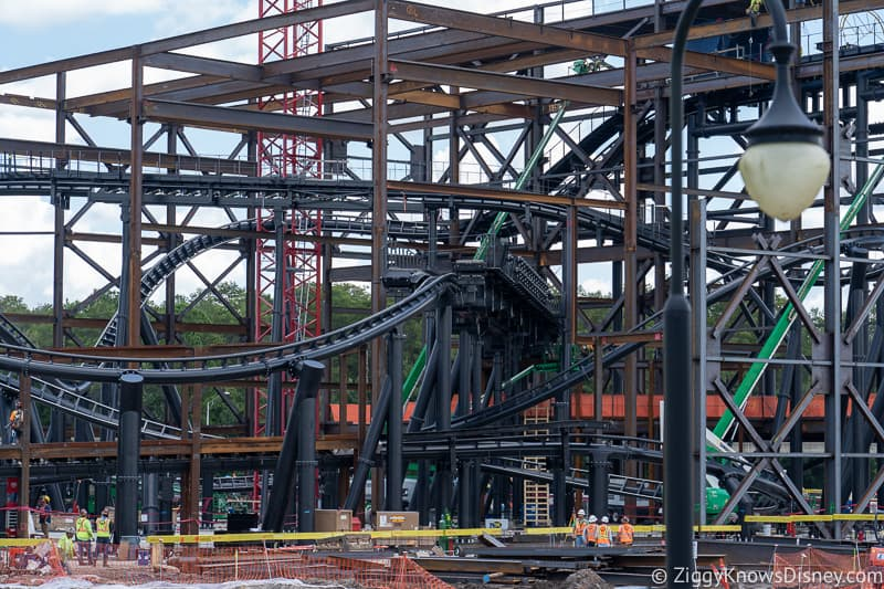 TRON Lightcycles Run roller coaster update august loading station