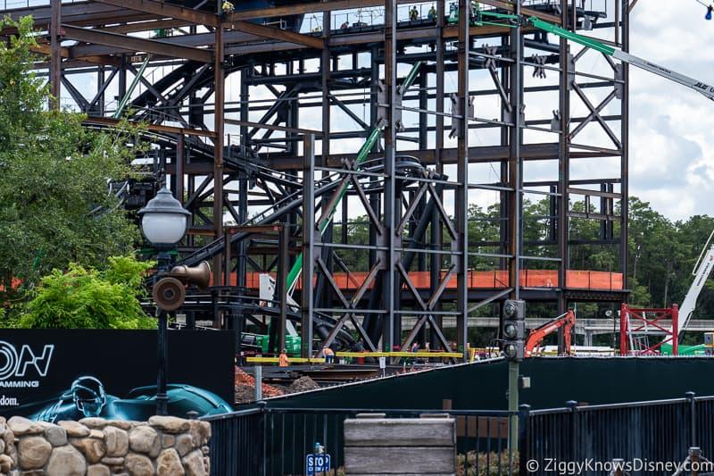 TRON Lightcycles Run roller coaster update august show building