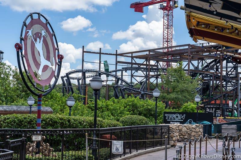 TRON Lightcycles Run roller coaster update august from Fantasyland