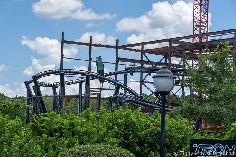TRON Lightcycles Run roller coaster update august screen